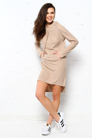 Stella Hooded Shift Dress