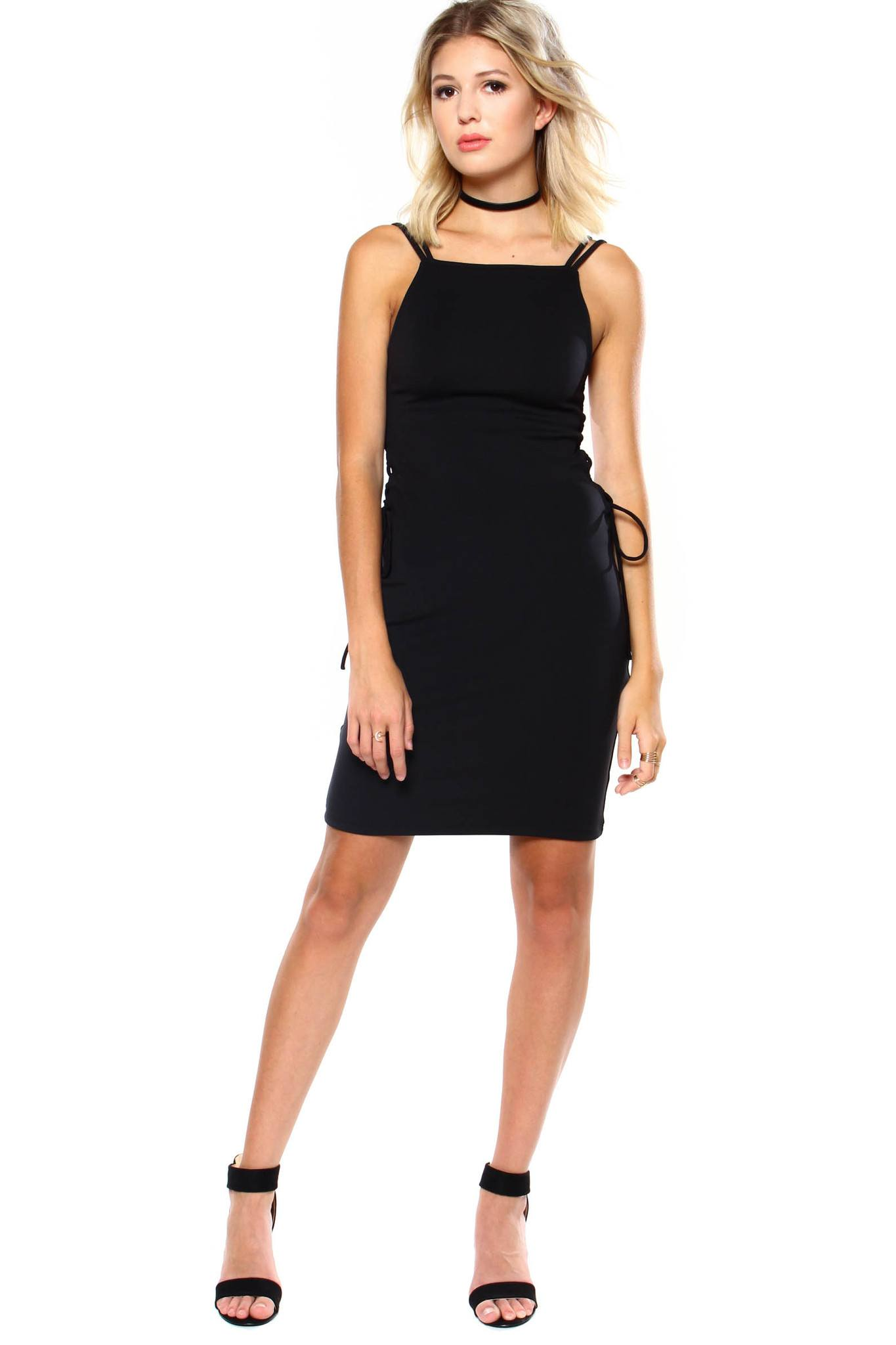 Motel Picton Lace-Up Dress
