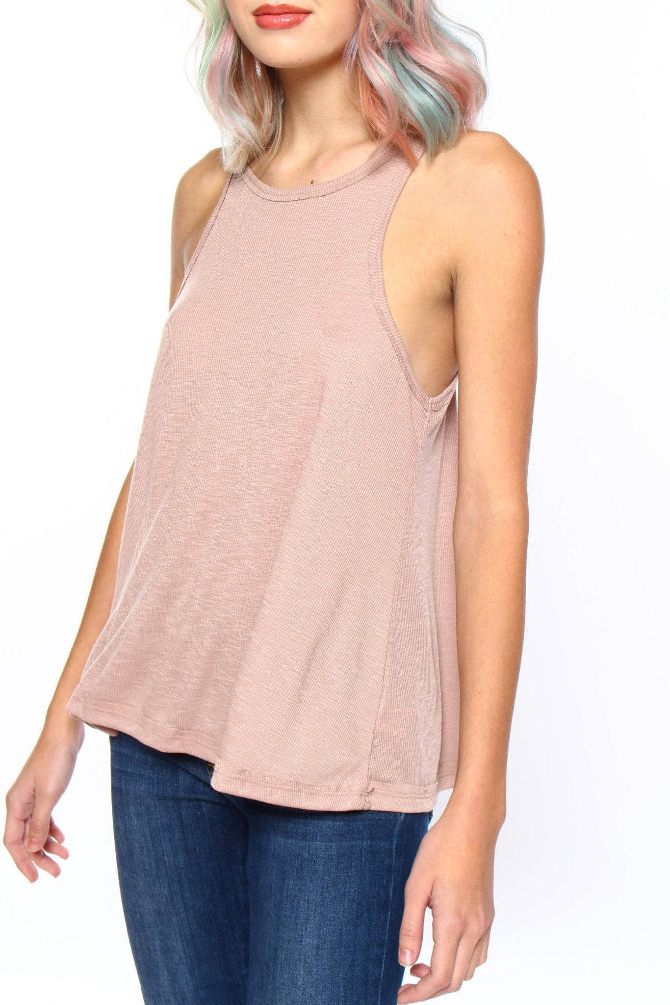 Free People Long Beach Tank - Neutral