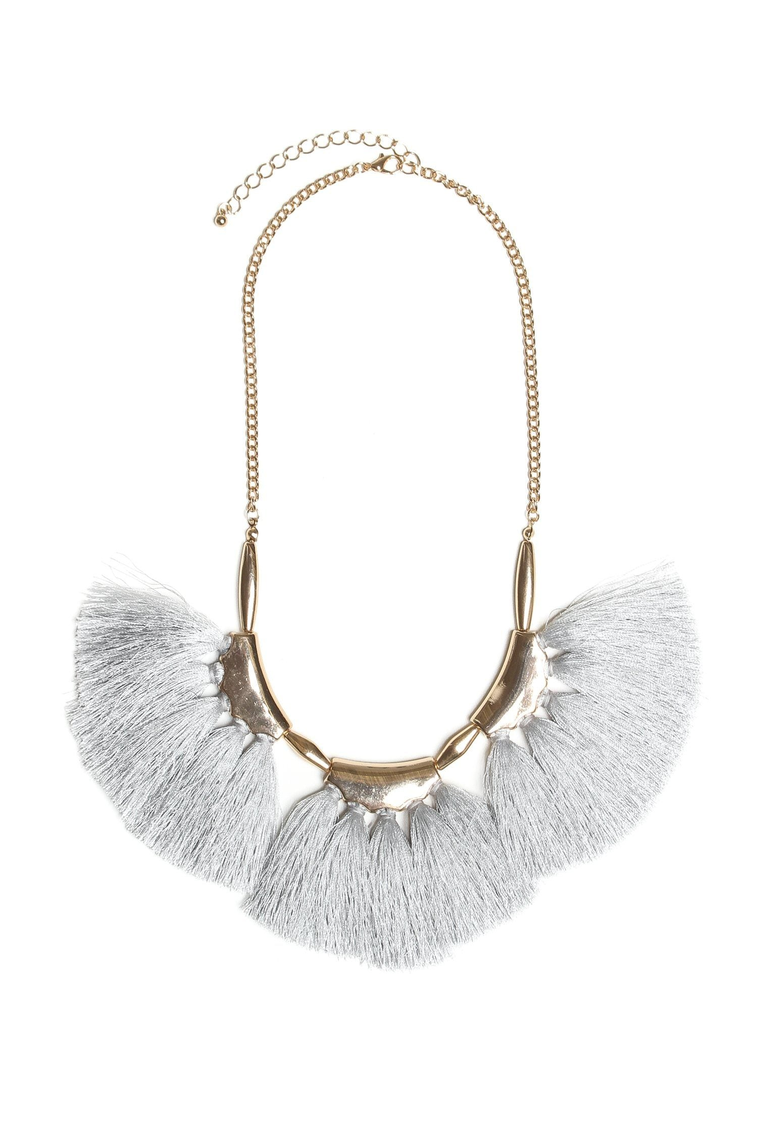 Tassel Fringe Bib Necklace