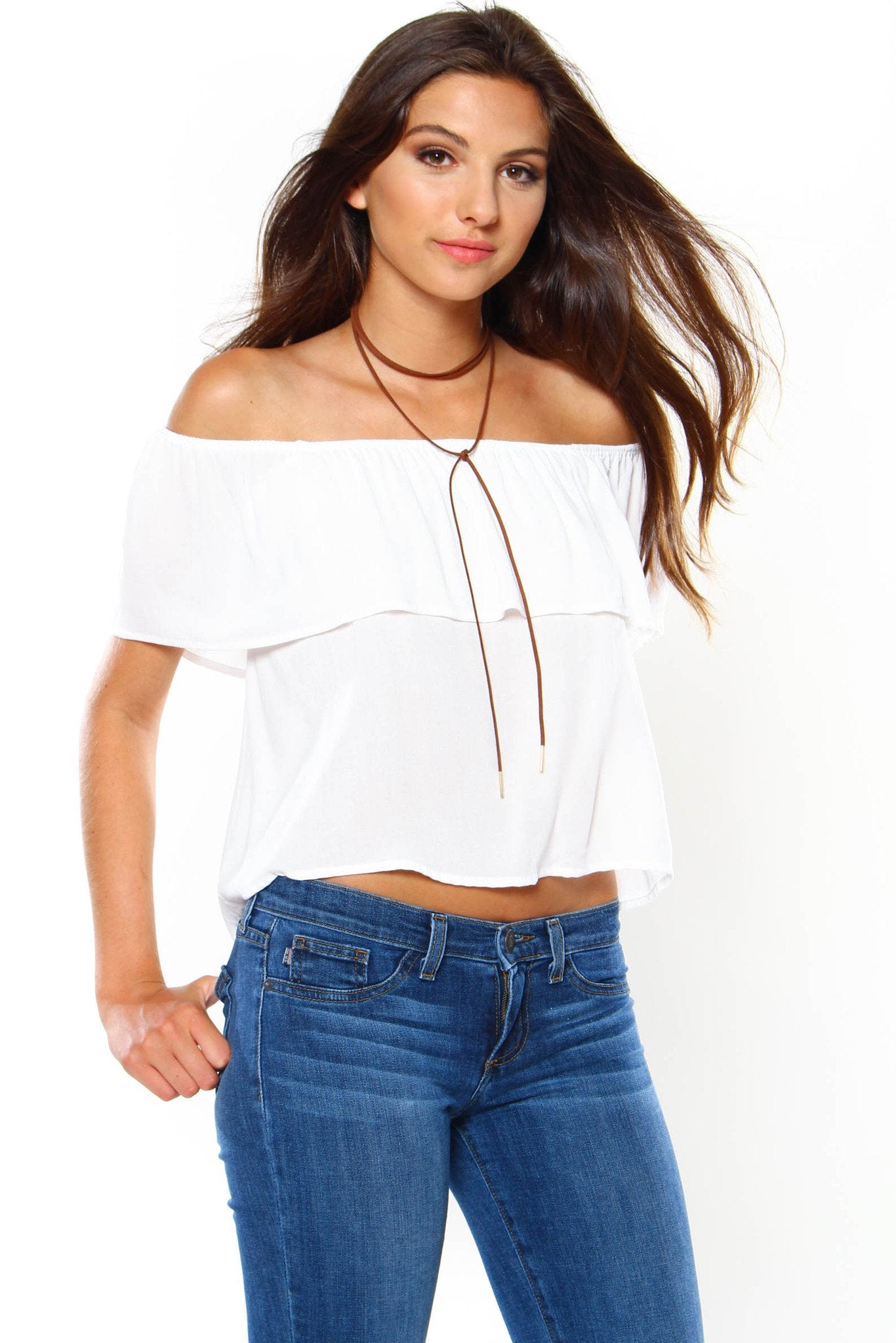 Wrap Up Bolo Necklace - Brown
