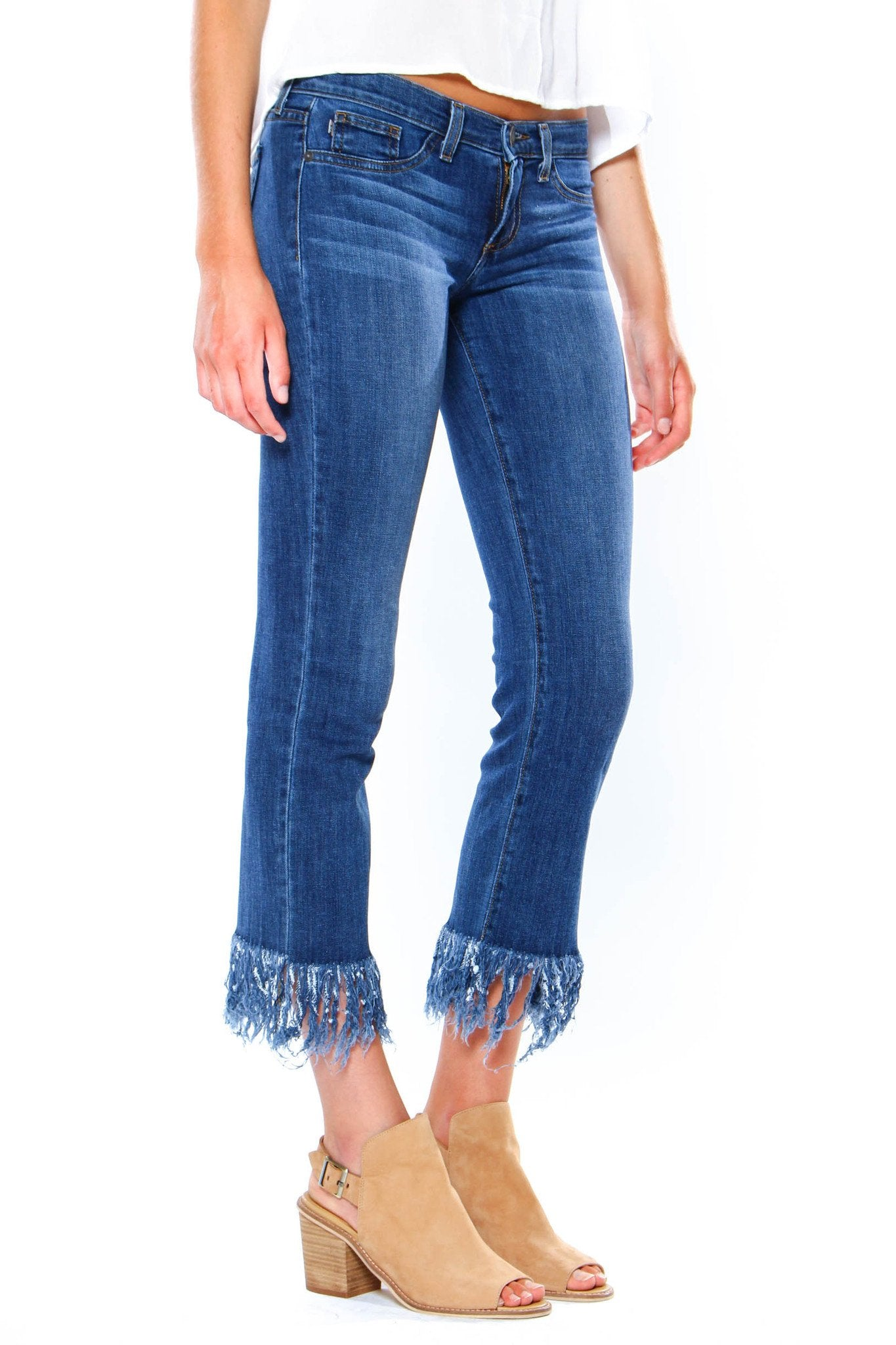 Fringe Benefits Cropped Jeans