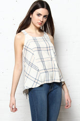 BB Dakota Euphrasia Plaid Tank