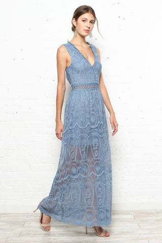 Set Your Sights Lace Maxi Dress