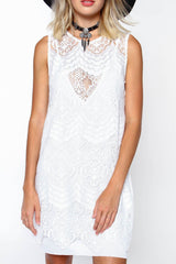 Motel Chad Lace Shift Dress