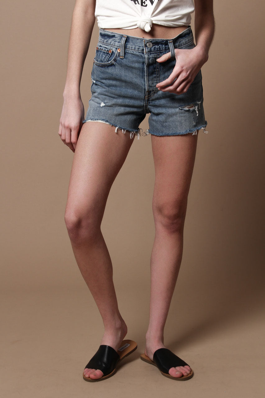 Levi's Wedgie Fit Cutoff Shorts - Blue Your Mind