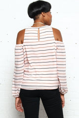 Lucca Michelle Cold Shoulder Top