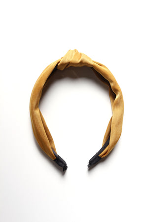 Knotted Satin Headband