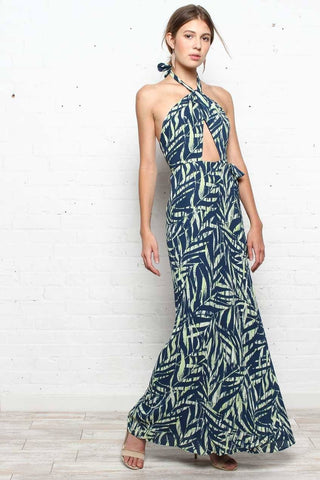 Havana Halter Maxi Dress