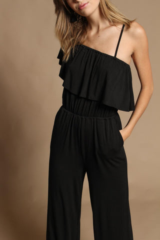 BB Dakota Maryana One Shoulder Ruffle Jumpsuit