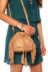 On The Fringe Bucket Bag