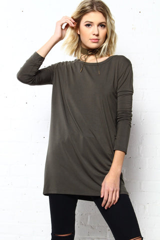 Fall In Line Bamboo Tee - Army
