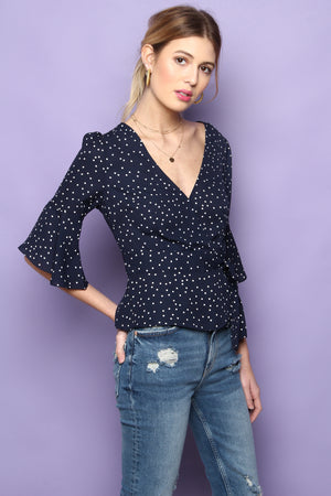 BB Dakota Spot Me Blouse