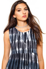 Wrap Up Bolo Necklace - Gray