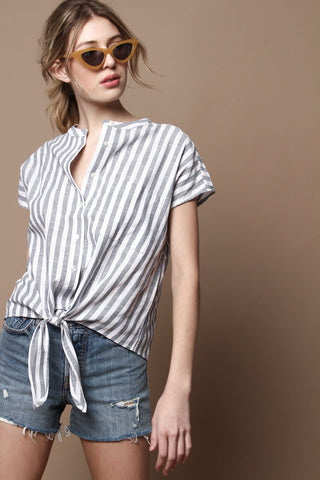 Malibu Sleeveless Buttondown Shirt - Stripe