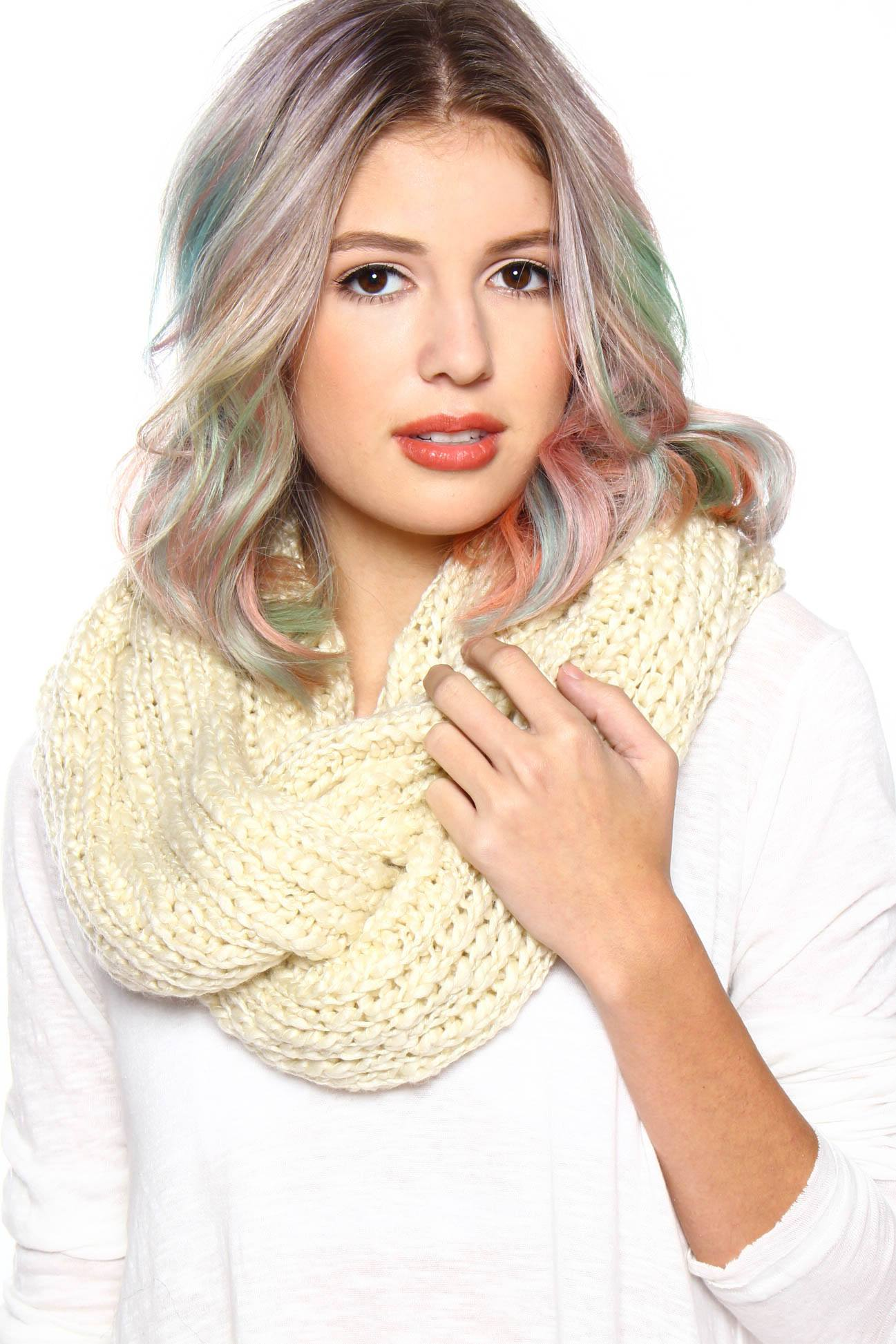 Under Wraps Infinity Scarf - Off White