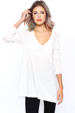 Free People Anna V-Neck Tee