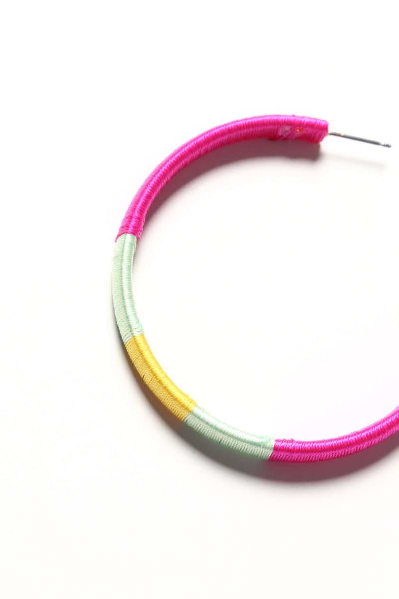 Wrap It Up Neon Hoops