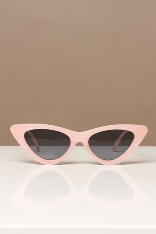 Skinny Cat Eye Shades - Pink