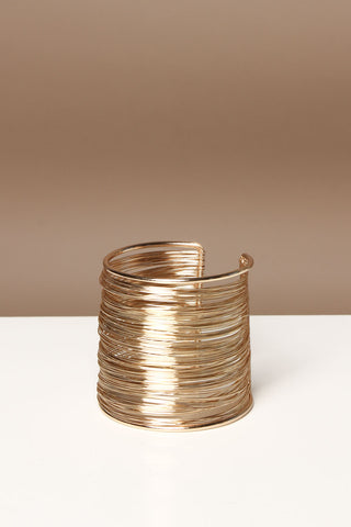 Totally Wired Bohemian Cuff Bracelet - Gold