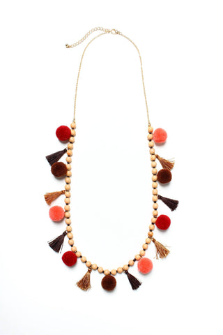 Drop The Ball Beaded Necklace