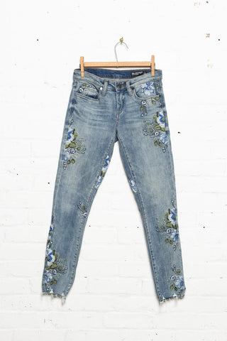 Blank NYC Back To Nature Embroidered Jeans