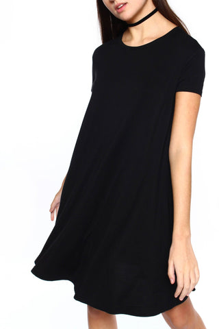 First Base Tee Dress - Black