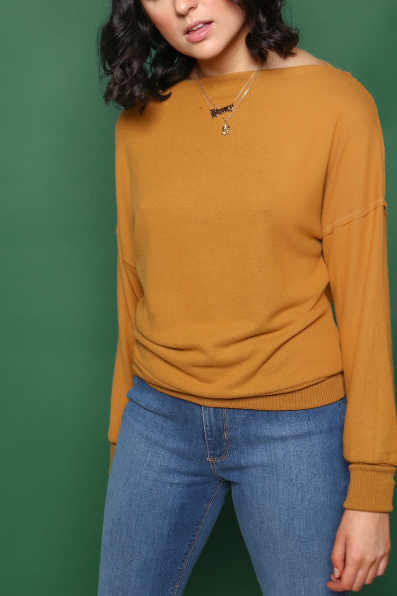 Project Social T Keep Me Warm Funnel Neck Top
