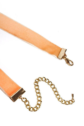 Just Peachy Velvet Choker