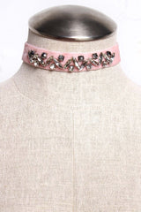 Valentina Jeweled Choker - Pink