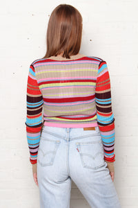 Honeypunch Rainbow Stripe Wrap Top