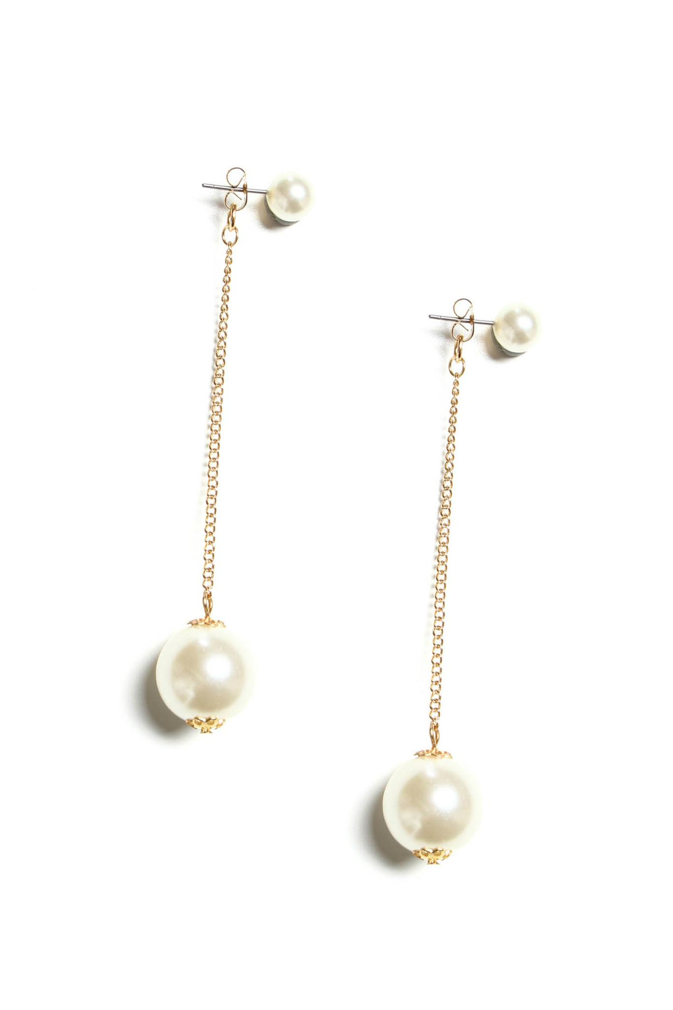 Plundered Pearl Front Back Earring