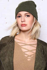 Take Cover Ribbed Beanie - Olive