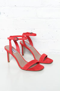 Steve Madden Faith Stiletto Heels - Red Suede