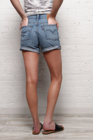 Levi's 501 Long Cuffed Shorts - Highways & Biways