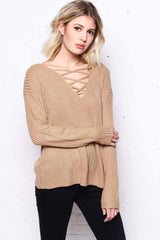 Crossed Out Knit - Mocha