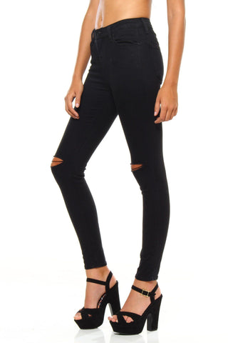 Slit Decision Skinny - Black