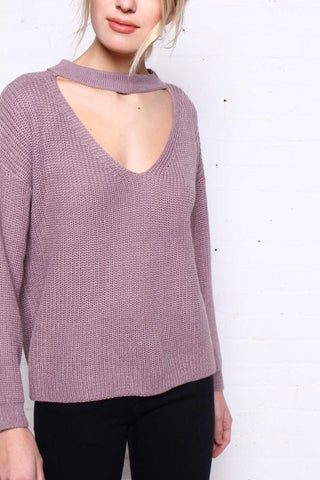 Brave Front Choker Sweater