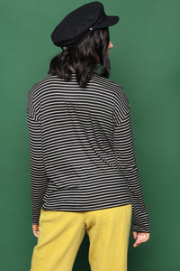 Project Social T Mixed Stripe Turtleneck