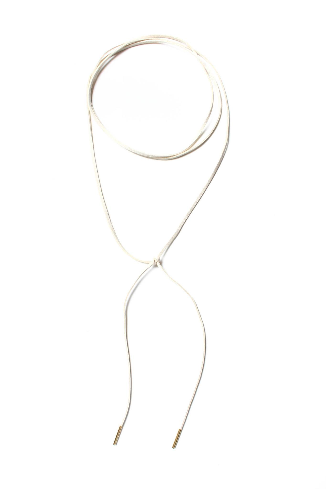 Wrap Up Bolo Necklace - Ivory
