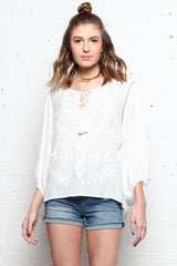 Clover Peasant Blouse