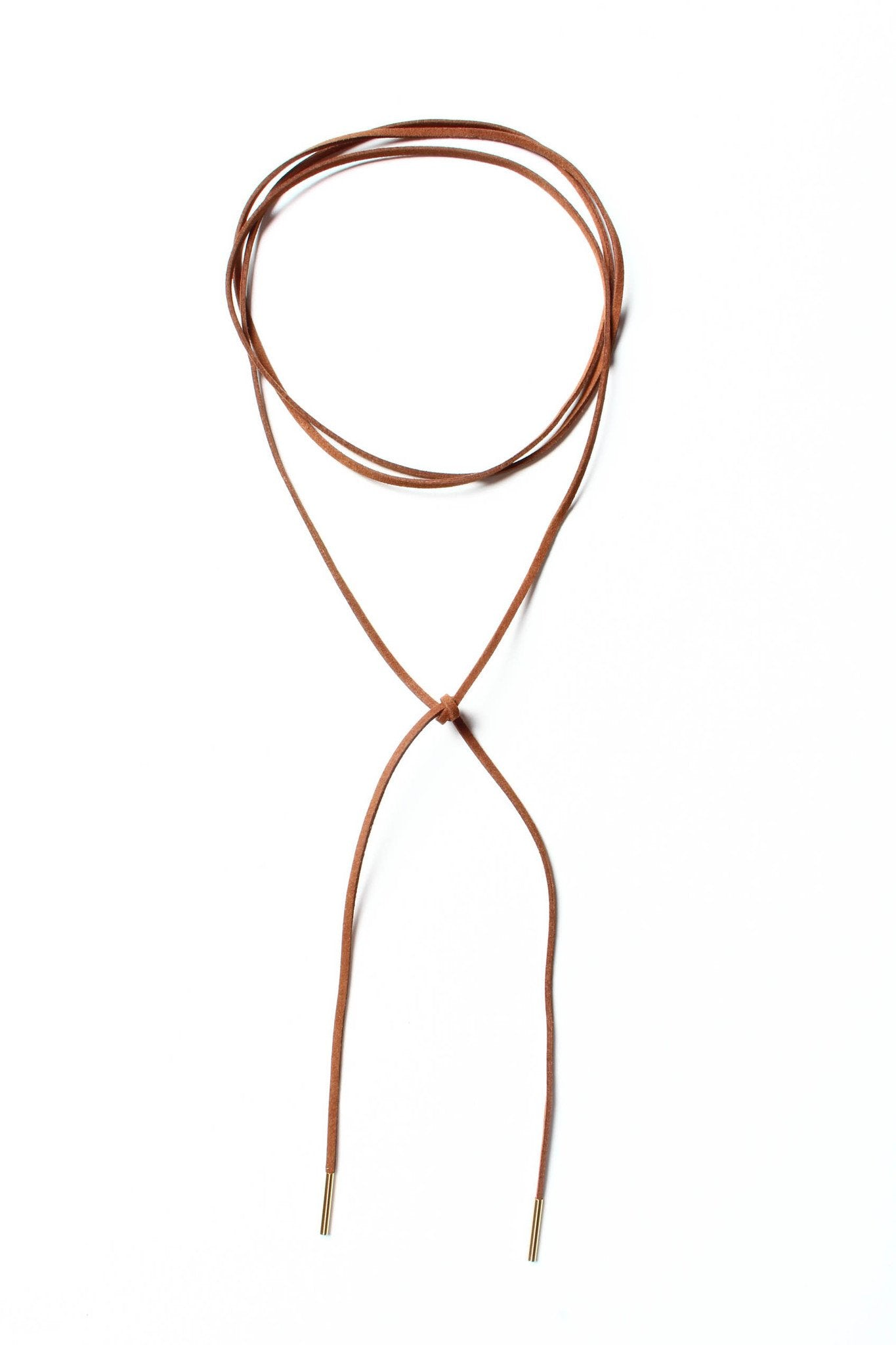 Maria Wrap Necklace - Brown