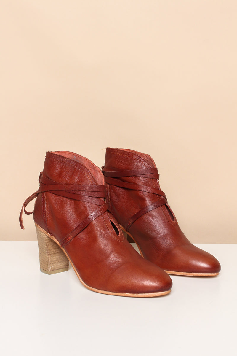 Free People Wrap Around Heel Boot - Chili Oil