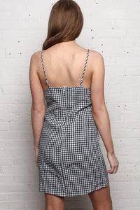 Kelly Gingham Cami Dress - Navy