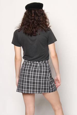 School Daze Plaid Zip Mini Skirt