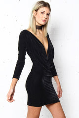 Motel Locato Velvet Bodycon