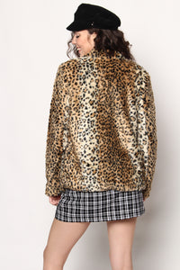 Cat's Meow Faux Fur Leopard Coat