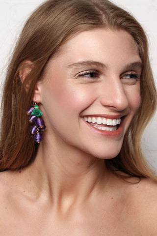Grape Dangle Earrings