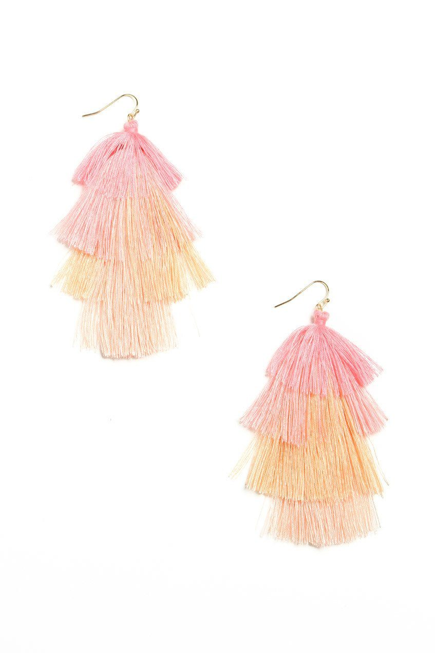 Moment In The Sun Tassel Earring