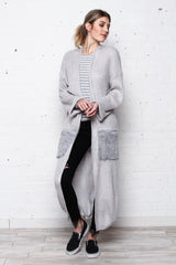Fur Pocket Duster Cardi